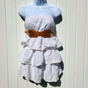 Rue21 White Strapless Mini Dress